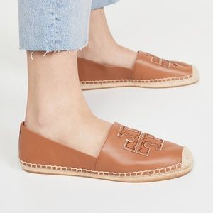 NWOT Tory Burch Ines Espadrille in Tan/Spark Gold